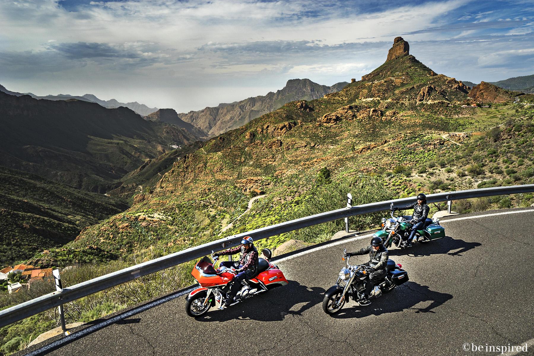 Spanien_Grana Canaria_Harley Davidson_motorcykel_