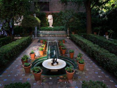 Madrid_Sorolla_museum_trädgård_fontän